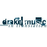 Image: blue on white typographic including the words 'Drake Music In Translation'