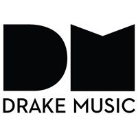 Image: Drake Music logo, showing large letters DM in black on white background