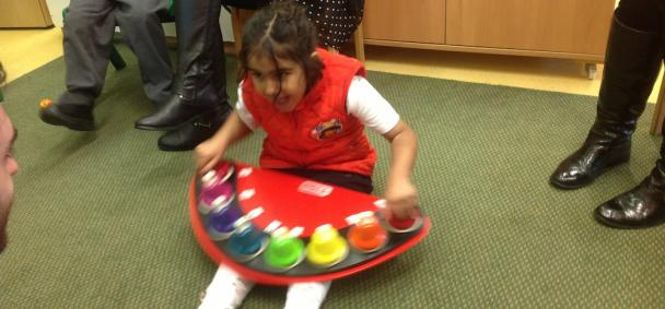 Nighaar playing the pitched bells