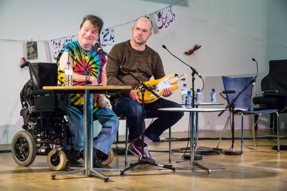 John Kelly & Gawain Hewitt talking at the Web We Want festival in London