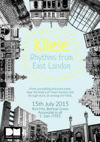 Poster for event - Kilele Rhythms From East London