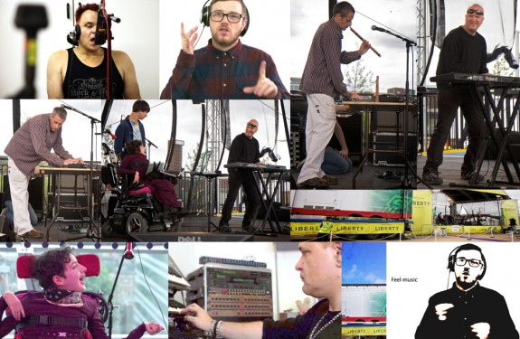 Sonic Vistas at Liberty Festival - a compilation image of the artists involved