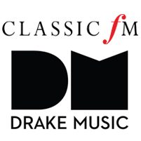 Image: Classic FM and Drake Music logos