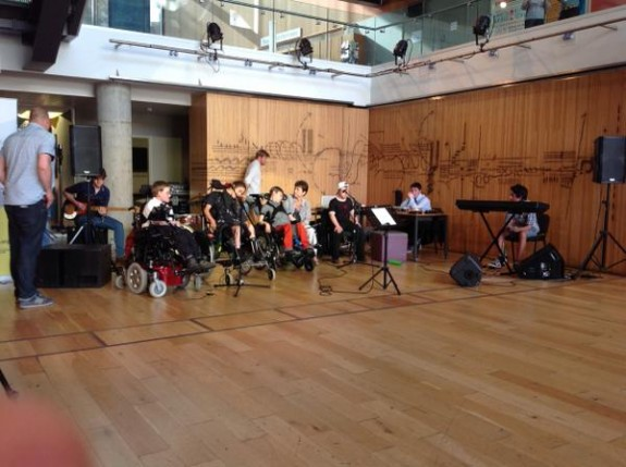 Absorbed By Sound music group playing live at Colston Hall Bristol