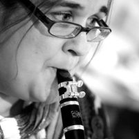 Musician and composer Sonia Allori plays the clarinet