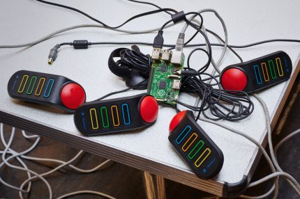 Playstation controllers upcycled into an instrument