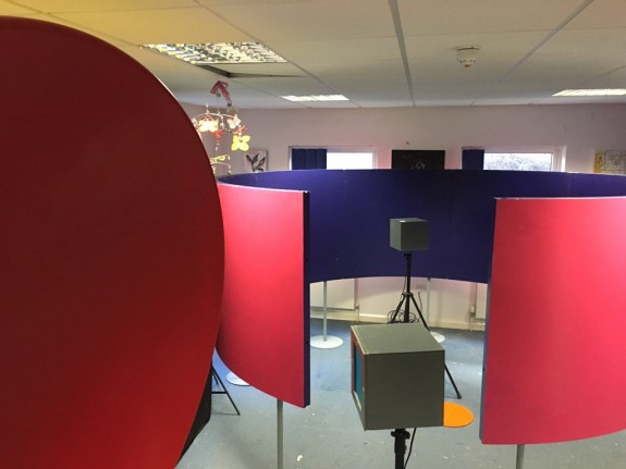 Sound installation in a room