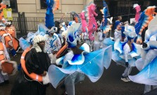 Dancers in colourful costumes at Lord Mayors Show