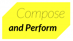 Compose and Perform logo in yellow