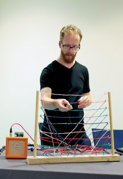Maker demonstrates 'Proximity mixer' instrument