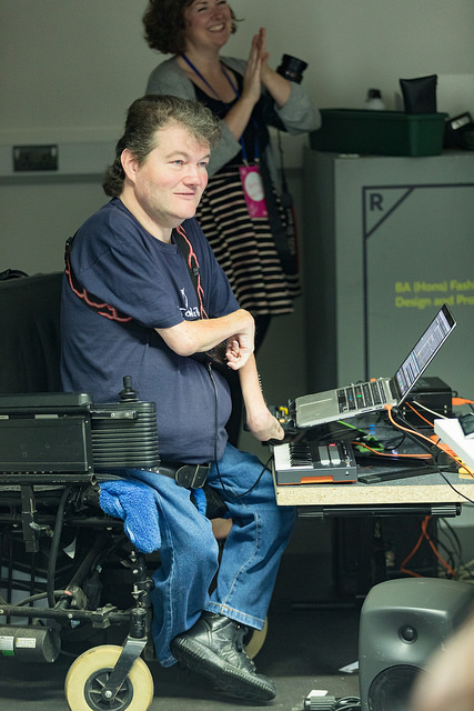 John setting up Kellycaster software.