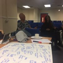 Participants working on Flipcharts.