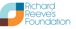 Logo for Richard Reeve's Foundation in blue and orange colours