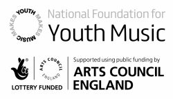 Youth Music and Arts Council Logo in black and white