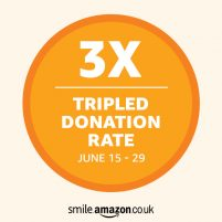 Amazon triple donation logo