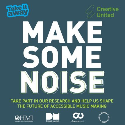 Image prompting people to take part in research into accessible music making