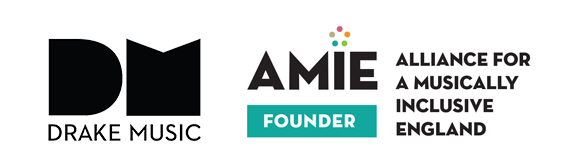 Drake Music and AMIE Alliance for a Musically Inclusive England logos