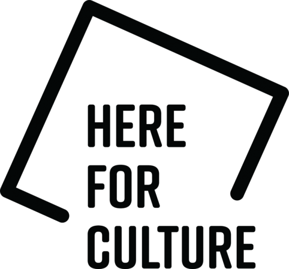 Logo says Here for Culture
