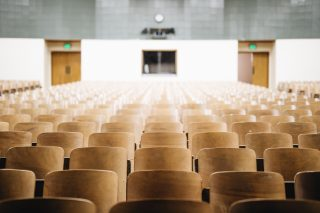 empty seats in a university lecture hall